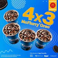 4 x 3 McFlurry Oreo