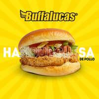 ¡Ven por una hamburguesa de pollo!