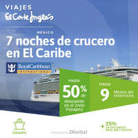 7 noches de crucero en El Caribe