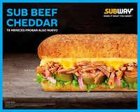 Sub beef cheddar