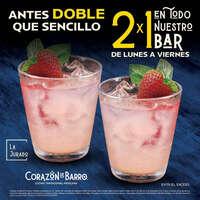 2 x 1 en el bar