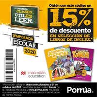 15% de descuento en libros inglés