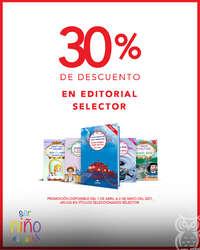 30% dcto en editorial Selector