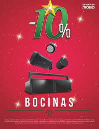 10% Descuento en bocinas seleccionadas