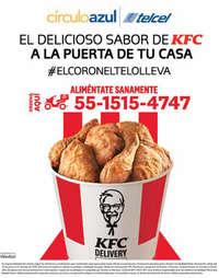 Círculo azul y KFC