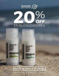 20% OFF en bloqueadores Seasons Love Your Skin