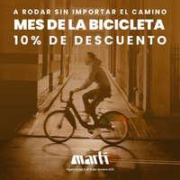 ¡Aprovecha 10% de descuento en todo tipo de bicicletas!