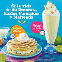 Pancakes y Malteada de Pay de limón