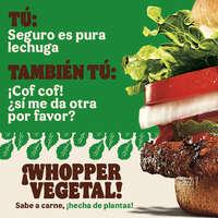 Prueba la nueva Whopper Vegetal