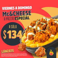 Mc&cheese a precio especial