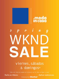 Primavera - Weekend SALE