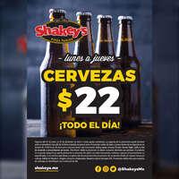 Cervezas $22.00