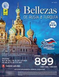 Bellezas de Rusia y Turquía