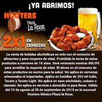 Plaza La Rosa 2x1 en cerveza