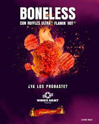 Boneless con Ruffles Ultra ® Flamin' Hot ®