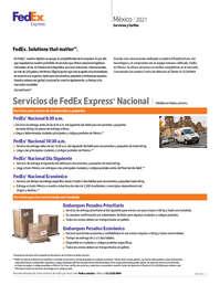 Servicios y tarifas México 2021