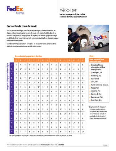 Servicios y tarifas México 2021- Page 1