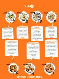 Menú Charolas de sushi