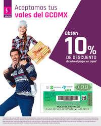 Aceptamos tus vales de la CDMX