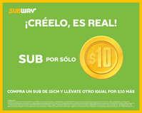 Sub por 10 pesos