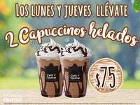 2 Capuccinos helados por $75