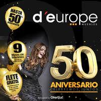 Descuentos del 50 aniversario d'europe