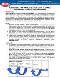 ACRITON EXTRA RAPIDO 5 AÑOS