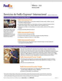 Servicios y tarifas México 2020