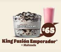 King fusión Emperador + malteada