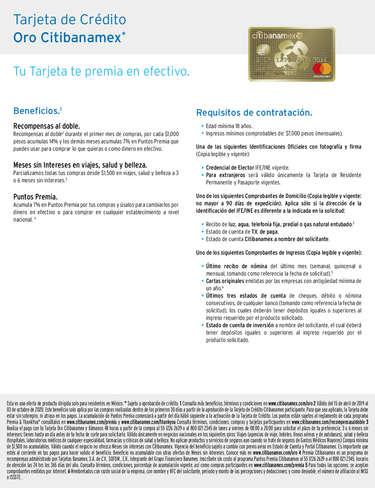 Tarjeta de crédito oro- Page 1