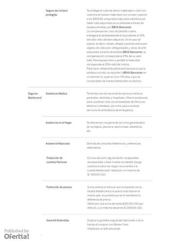 Tarjeta Vive BBVA Bancomer- Page 1