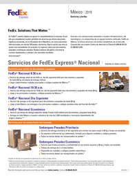 Servicios y tarifas México 2019