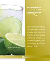 Transporte de jugos a temperaturas de congelación utilizando N2 líquido