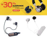Hasta 30% de descuento en audífonos
