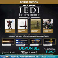 Ya disponible Jedi Fallen Order
