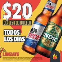$20 Cerveza de botella