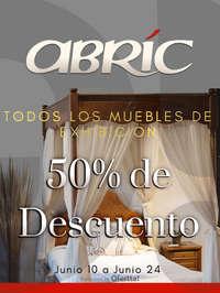 50% de descuento en muebles de exhibición