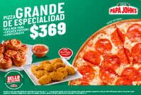 Pizza grande de especialidad $369