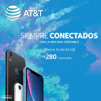 iPhone XR desde $280 mensuales